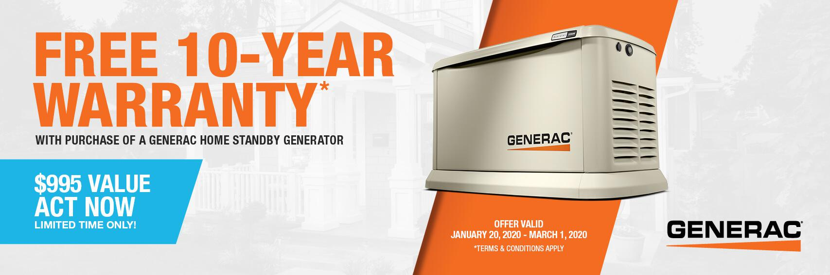 Homestandby Generator Deal | Warranty Offer | Generac Dealer | Orlando, FL